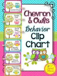 Owl Behavior Clip Chart Behavior Clip Chart Owls And Chevron Decor Theme School