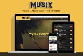 Music Website Templates Inspiration MusiX Music Band Html Template Codeboxr