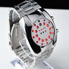 popular cool hand watch man buy cheap cool hand watch man lots red led dot matrix round dial men s wrist watch 80s ship cool mainland