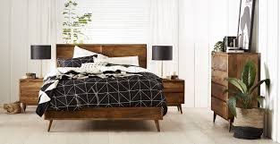 Furniture Mid Century Bed By Ashley Furniture Austin With Black