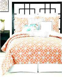 burnt orange king size and blue medium of set arabesque geometric bedding rter brown sets comforter