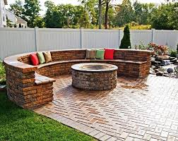 image of stone patio fire pit designs ideas