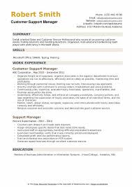 Support Manager Resume Samples Qwikresume