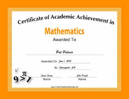 Math Certificates Stunning Award Certificate Template Primary School ...