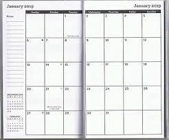 Callendar Planner 2019 2020 2 Year Pocket Calendar Planner Agenda