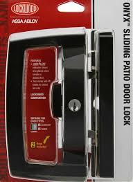 features of the lockwood onyx sliding patio door lock