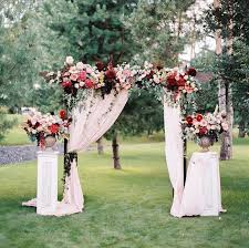 floral arches for weddings. floral archway/wall idea\u2026 rose and marsala arches for weddings a
