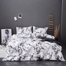 marble pattern bedding sets duvet cover set 2 bed set twin double queen quilt cover bed linen no sheet no fillingsj288 black and white bedspread blue and