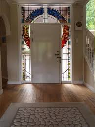 stained glass door panel bearsden glasgow 2016