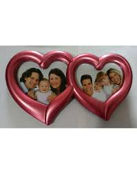 heart shaped picture frame double collage red frames whole heart shaped picture frame
