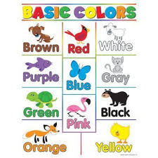 Baby Learning Chart Basic Color Chart With Names Basic Colors Learning Charts