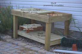 DIY Potting Bench With Dad From Thrifty Decor ChickPlans For A Potting Bench