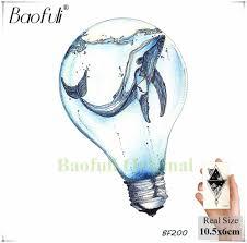 Baofuli лампа океан водостойкая татуировка кит лодка с якорем временная татуировка