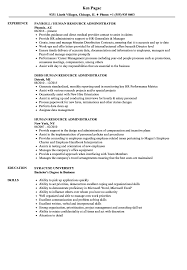 Resume Human Resources Human Resource Administrator Resume Samples Velvet Jobs 13