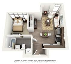 Best One Bedroom Efficiency Apartment Plans Contemporary
