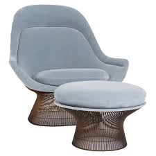 warren platner lounge chair and ottoman for knoll at stdibs