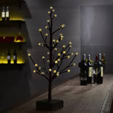 White Led Tree Lights 2019 60cm 48 Led Tree Light Table Night Lamp Crack Round Balls Warm White Led Lighting For Bedroom Pub Bar Christmas Xmas Decor Gift From Yuancao