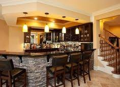 Fine Cool Basement Bars The Stone Accent On This Custom Bar With Modern Ideas