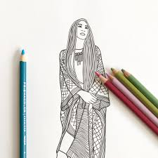 Small Picture Fashion Show Coloring Pages for Adults