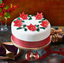 Get Festive With Fiona Poinsettia Christmas Cake Daily Mail Online