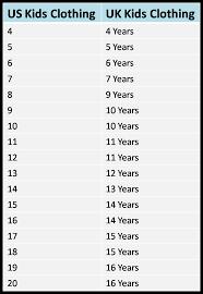 Girl Clothes Size Conversion Chart 54 Precise Girls Shoe Size Chart Conversion