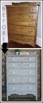 Distressed Stenciled Antique Highboy Makeover - Girl in the Garage