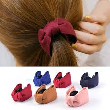Royal  Fabric Bow Hair Claw Elegant <b>Women</b> Cloth Ties Banana ...
