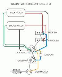 vintage teisco wiring diagram guitar forums