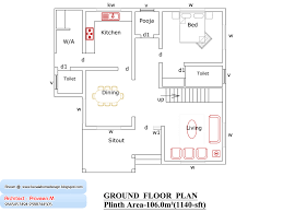 Bedroom House Plan In Square Feet Bedroom House Plans    kerala home plan and elevation sq ft