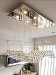dining room crystal chandelier. Modern Rectangular Dining Room Crystal Chandelier Pendant Lighting Regarding Decorations 15 C