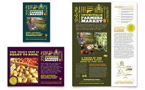 Advertisement Brochure Interesting Farmers Market Flyer Ad Template Design