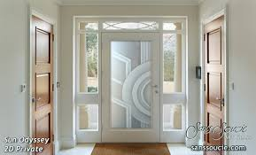 glass entry doors etched glass modern design art deco style geometric