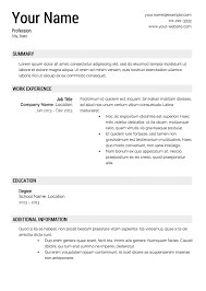Templates Of Resumes Free Resume Templates Ideas