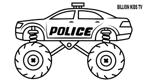 Coloring Pages Police Monster Truckloring Pageslors For Kids With