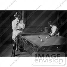 billiards black and white. #30201 Historical Black And White Stock Photo Of A Woman Leaning On Cue Stick Billiards