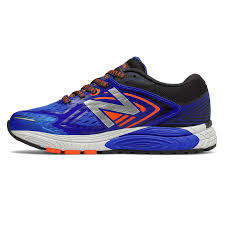 new balance 860v8. new balance 860v8 grade school running - blue / dark grey orange u