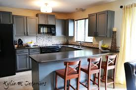 Distressed Kitchen Furniture Paint Kitchen Cabinets Country Kitchen Black Painted Kitchen