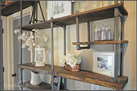 use pvc pipe to build an inexpensive industrial style shelf sawdust 2 stitches on