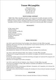 Resume Templates: Public Affairs Specialist