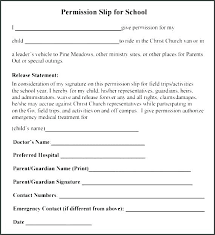Permission Slip For Field Trips Preschool Field Trip Permission Form Template Scsllc Co