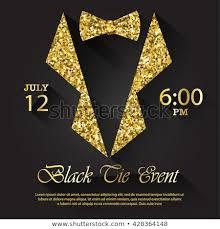 Black Tie Event Invitation Vector Illustration Stock Vector Royalty