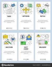 Gift Chart Template Vector Web Site Linear Art Onboarding Screens Template