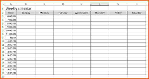 Weekly Calendar Template Excel Sharedvisionplanning Us