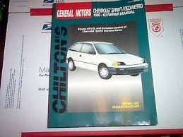 1986 chevrolet sprint er shop manual supplement chevy repair chilton repair manual 85 93 chevrolet sprint geo metro wiring diagrams