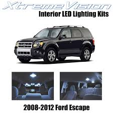 2013 Ford Escape Interior Lights Wont Turn Off Xtremevision Interior Led For Ford Escape 2008 2012 8 Pieces Cool White Interior Led Kit Installation Tool Tool
