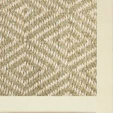 innovative sisal area rugs natural sisal area rug trio 270 cotton border ecru 1221