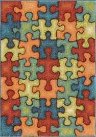 orian rugs kids i m puzzled rainbow area rug
