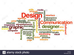 Concept Words For Design Graphic Design Concept Word Cloud On White Stock Photo