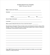 Basic Incident Report Template Simple Incident Report Form Harezalbaki Co