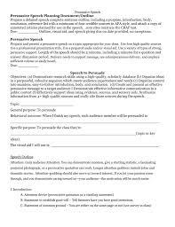 persuasive speech grading rubric